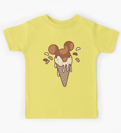 Chocolate Mickey Icecream Splash Kids Tee