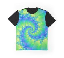 Psychedelic Colorful Spiral Fractal Graphic T-Shirt