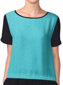 Aqua Bumpy Pattern Women's Chiffon Top