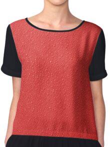 Red Bumpy Pattern  Women's Chiffon Top