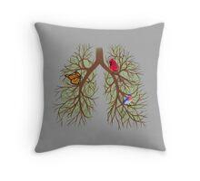 Lung Art Throw Pillow