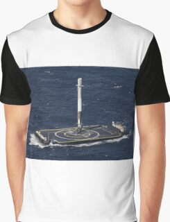 Space X Landed Rocket Graphic T-Shirt