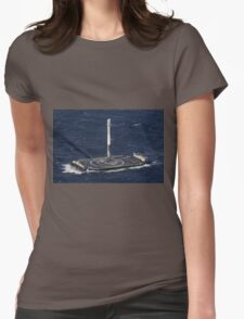 Space X Landed Rocket Womens Fitted T-Shirt