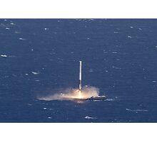 SpaceX Landing Rocket Photographic Print