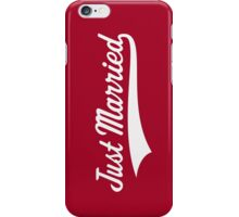 Just Married (Marriage / Wedding / White) iPhone Case/Skin