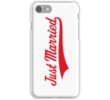 Just Married (Marriage / Wedding / Red) iPhone Case/Skin