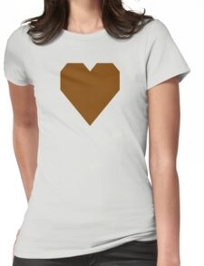 Chocolate  Womens Fitted T-Shirt