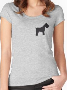 Schnauzer Women's Fitted Scoop T-Shirt