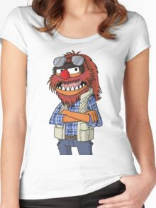 Macgruber - Animal Women's Fitted Scoop T-Shirt