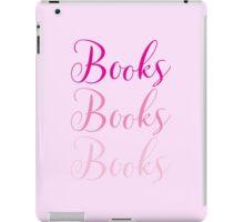 Books Books Books  in pink iPad Case/Skin