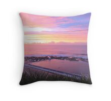 Sunrise over Merewether Ocean Baths Throw Pillow