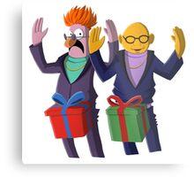Beaker & Dr Bunsen - Dick in a box Metal Print