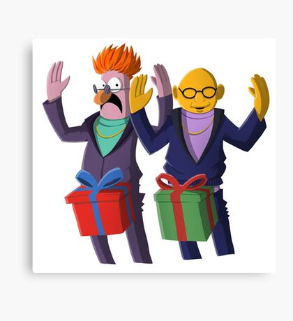 Beaker & Dr Bunsen - Dick in a box Canvas Print