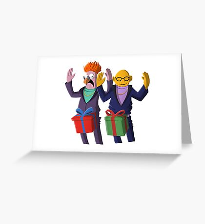 Beaker & Dr Bunsen - Dick in a box Greeting Card