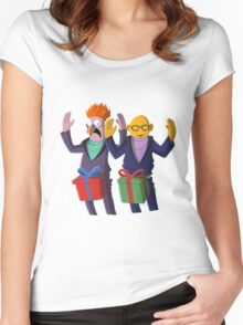 Beaker & Dr Bunsen - Dick in a box Women's Fitted Scoop T-Shirt