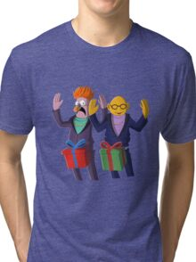 Beaker & Dr Bunsen - Dick in a box Tri-blend T-Shirt
