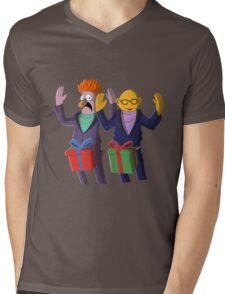 Beaker & Dr Bunsen - Dick in a box Mens V-Neck T-Shirt