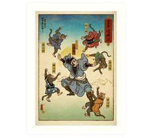 You vs The five mind monkeys Art Print