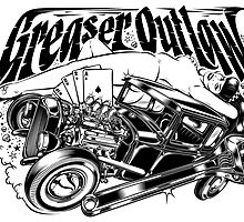 GREASER OUTLAW B&W by DVicente