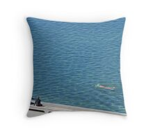 Winter In Newcastle -Merewether Ocean Baths Throw Pillow