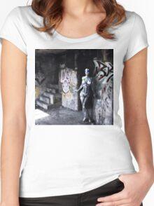 Robot girl Women's Fitted Scoop T-Shirt
