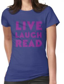 LIVE LAUGH READ in purple Womens Fitted T-Shirt