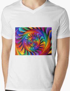 Psychedelic Rainbow Spiral  Mens V-Neck T-Shirt