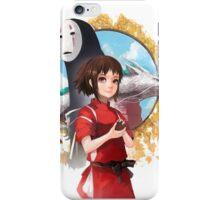 Haku, Chihiro and No Face iPhone Case/Skin