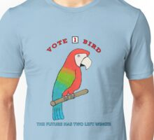 Vote For Bird #2: Two Left Wings Unisex T-Shirt