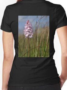 Spotted Orchid,  Portnoo, Co. Donegal Women's Fitted V-Neck T-Shirt