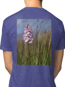 Spotted Orchid,  Portnoo, Co. Donegal Tri-blend T-Shirt