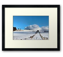 Rolling clouds in the peak district Framed Print