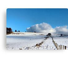 Rolling clouds in the peak district Canvas Print