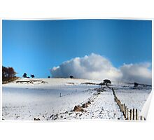 Rolling clouds in the peak district Poster