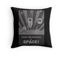 Space adventures, In Space!  Throw Pillow