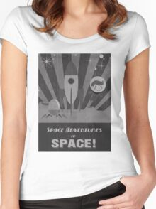 Space adventures, In Space!  Women's Fitted Scoop T-Shirt