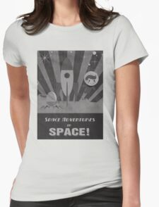 Space adventures, In Space!  Womens Fitted T-Shirt