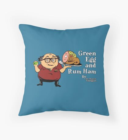 Green Egg and Rum Ham Throw Pillow