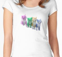 Multi coloured Cats T-shirts, Phone cases & More Women's Fitted Scoop T-Shirt