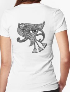 Eye of Horus (Tattoo Style Print) Womens Fitted T-Shirt