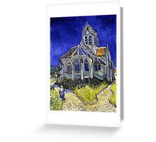 Vincent Van Gogh The Church in Auvers Greeting Card