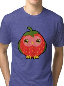 Strawberry owl Tri-blend T-Shirt