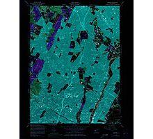USGS TOPO Map New Jersey NJ Orange 254676 1955 24000 Inverted Photographic Print