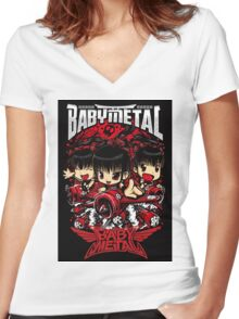 babymetal Women's Fitted V-Neck T-Shirt