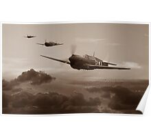 Pacific Warhorse - RAAF Version - Sepia Poster