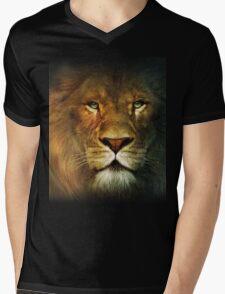 Narnia Lion Mens V-Neck T-Shirt