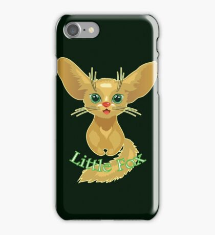 Vector illustration of cute gold Fox iPhone Case/Skin