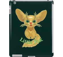Vector illustration of cute gold Fox iPad Case/Skin