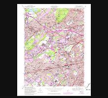 USGS TOPO Map New Jersey NJ Roselle 254842 1955 24000 Unisex T-Shirt