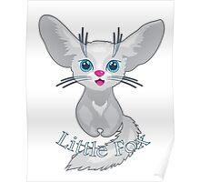 Vector illustration of cute Fox Poster